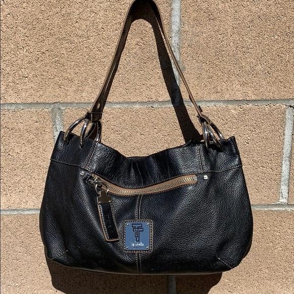 Tignanello Handbags - Tignanello Pebble Leather Ring Hobo handbag black